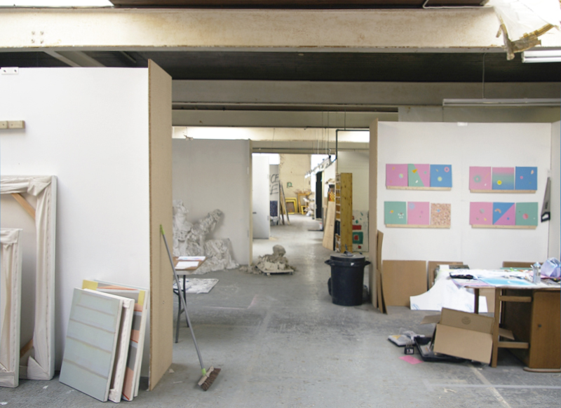 Artist studios at Two Queens, Leicester